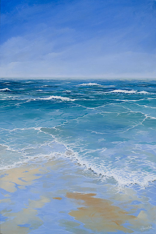 Original seascape painting. Acrylic on canvas by Hastings artist Jon 'Huldrick' Wilhelm.