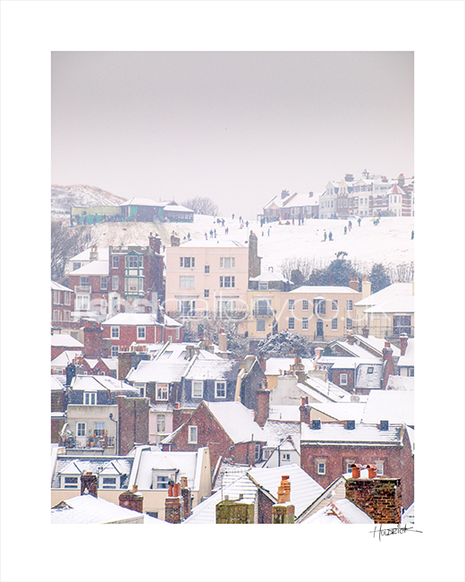 """West Hill Winter"". Photograph of Hastings by Hastings Photographer Jon ""Huldrick' Wilhelm."