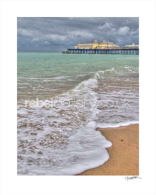 "Photograph of Hastings Pier with by Hastings Photographer Jon ""Huldrick' Wilhelm."